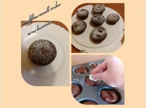 muffin mud cake con cuore di banana