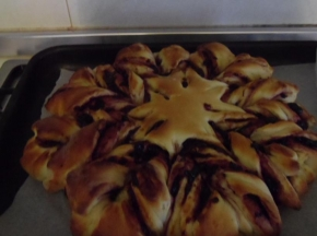 fiore di pan brioches alla marmellata