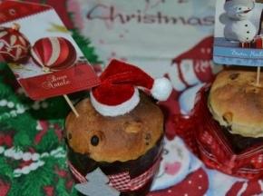 Panettoncini natalizi con gocce di cioccolato