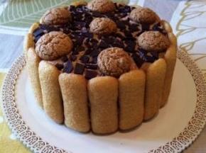 torta pavesini e amaretti