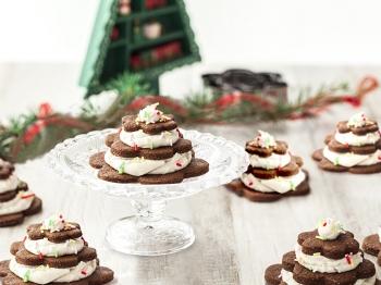 Alberelli di Natale di biscotto