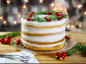 Naked cake di Natale