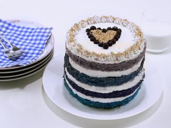Ombre cake invernale
