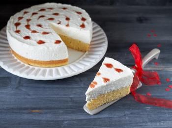 Cheesecake con cuori
