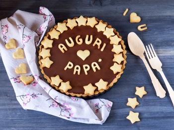 Crostata pere e cioccolato per la Festa del Papà