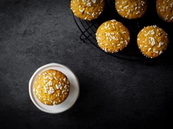 Muffin alla curcuma e albicocche
