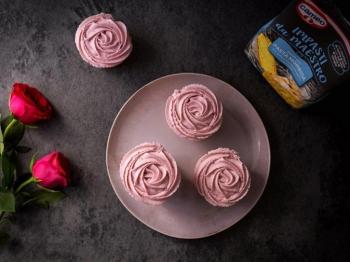 Swirl rose cupcake al lime e zenzero