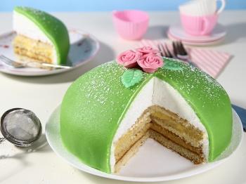 Torta verde della principessa o Prinsesstårta