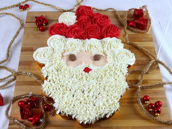 Torta di cupcake Babbo Natale