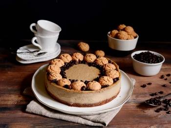 Cheesecake al caffè e amaretti