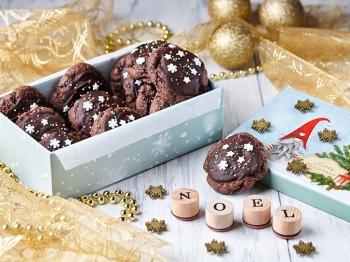 Cookies al cioccolato natalizi