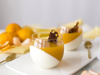 Panna Cotta con gelée al mandarino