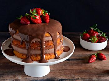Naked cake ciobar
