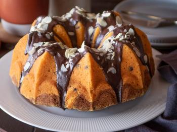 Torta con zucca e cioccolato