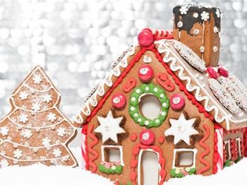 Sweet table natalizia: il villaggio di Babbo Natale