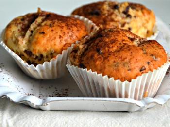 Muffins cioccolato e pera