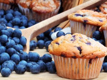 Muffins mirtilli e cioccolato