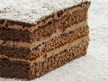 Torta al cacao con crema al cocco e cioccolato