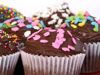 Muffin al cioccolato glassati