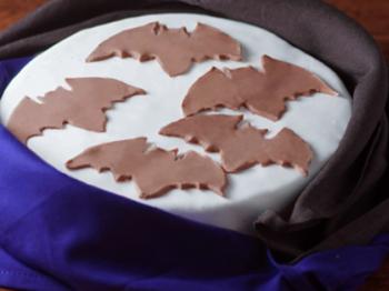 Torta di Halloween con pipistrelli