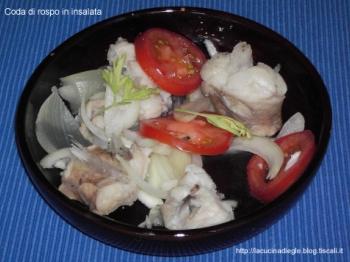 coda di rospo in insalata