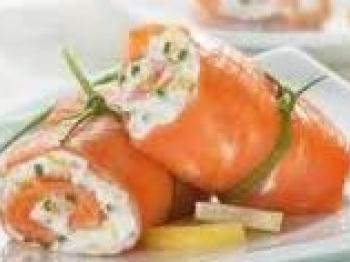 Coni di salmone affumicato