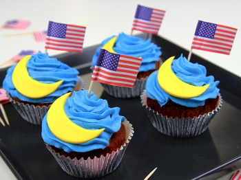Cupcake con decorazioni a forma di luna