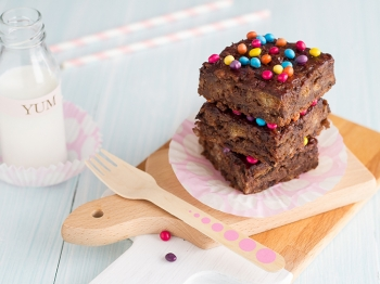 Brownies con pane raffermo