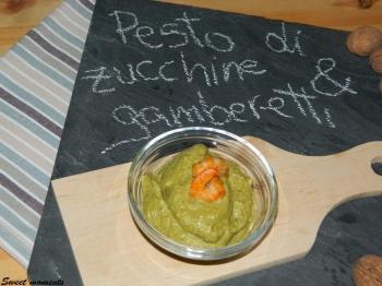Pesto di zucchine e gamberetti