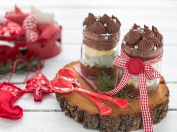 Cupcake di Natale in barattolo