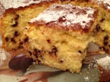 Torta vaniglia e gocce di cioccolato