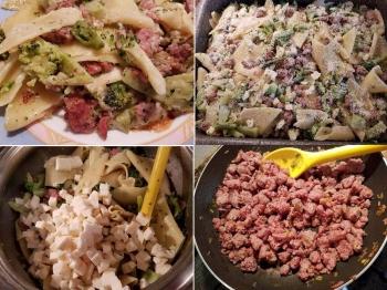 Pennoni broccoletti e salsiccia al forno