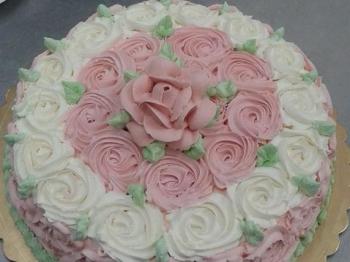 torta decorata floreale