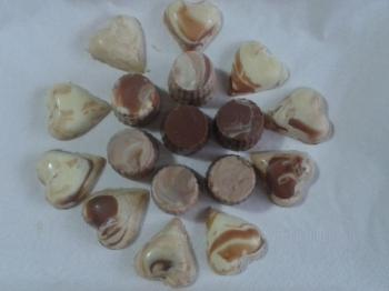 Cioccolatini marmorizzati