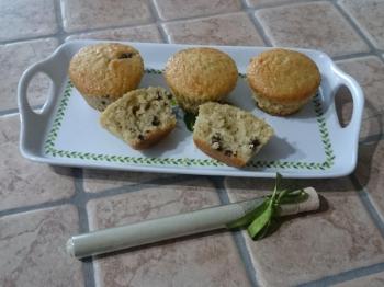 Muffin al tè matcha e gocce di cioccolato