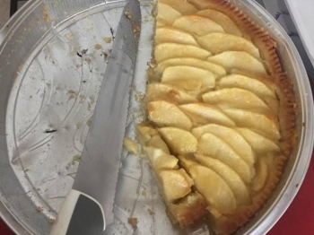 Torta di mele con frangipane