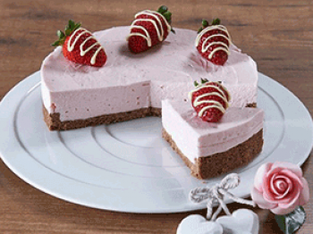 CheeseCake rosa alle fragole