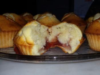 Muffin con marmellata di fragole