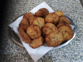 Medaglioni di ceci e patate