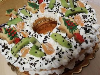 Cream tart con frosting al mascarpone