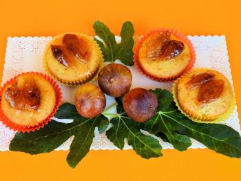 Muffin con fichi caramellati