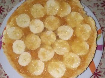 cheesecake  cotta con banane e pera