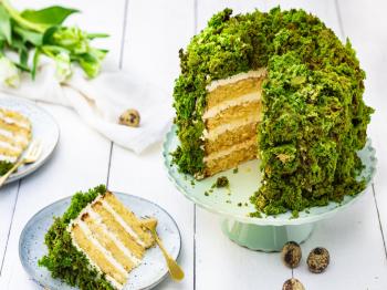 Torta dolce pasquale di muschio verde