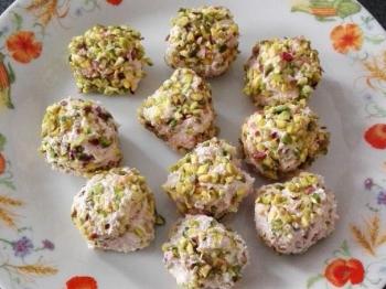 Polpette mortadella e pistacchio senza cottura