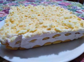 Torta fredda fragola e limone