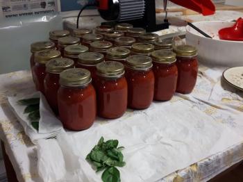 Passata di pomodoro al basilico