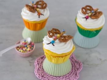 Cupcake primaverili con farfalla