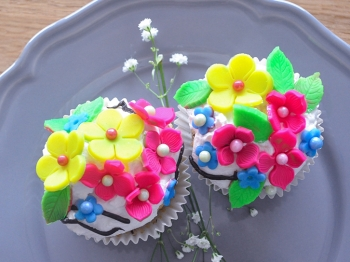 Cupcake floreali