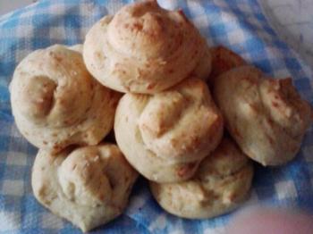 Chioccioline di pane al parmigiano
