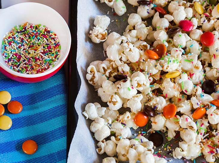 Popcorn Cake per Carnevale